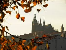 Autumn in Prague - Prague Castle, Czech Republic stock photo