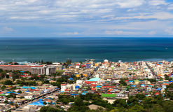 View of Hua-hin City, Prachuapkhirikhan, Thailand Stock Photos