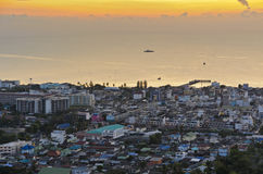 View Hua Hin city at sunrise Stock Photography
