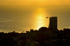 View Hua Hin city at sunrise Royalty Free Stock Photography