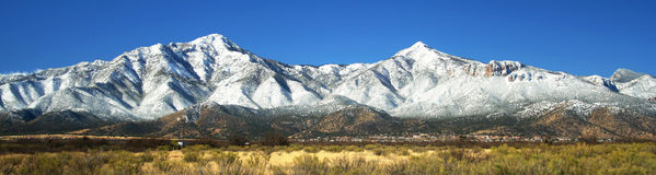 A View of the Huachuca Mountains Royalty Free Stock Photo