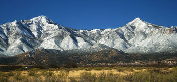 A View of the Huachuca Mountains in Winter Stock Photos