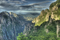 A view in huangshan Royalty Free Stock Photo