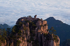 View of Huangshan from Cooling Terrace, Anhui, China Royalty Free Stock Photos