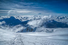 View from Huayna Potosi Royalty Free Stock Photography