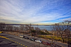 View of the Hudson River. Royalty Free Stock Images