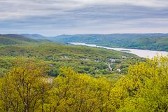 View of the Hudson River from Bear Mountain State Park, New York.  stock images