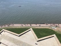 View From Statue Of Liberty Pedestal Royalty Free Stock Images