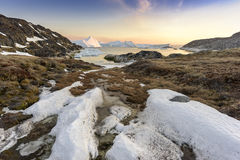 View of the huge icebergs in Greenland Stock Images