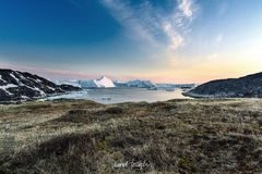 View of the huge icebergs in Greenland Royalty Free Stock Photography