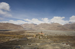 View of Hunder village, Leh Stock Photography