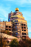 The view of Hundertwasser house in Darmstadt, Germany Stock Images