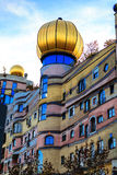 The view of Hundertwasser house in Darmstadt, Germany Royalty Free Stock Images