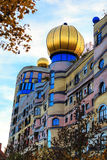 The view of Hundertwasser house in Darmstadt, Germany Stock Photography