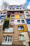 The view of Hundertwasser house in Vienna, Austria Royalty Free Stock Images