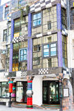 The view of Hundertwasser house in Vienna, Austria Stock Photography