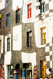 The view of Hundertwasser house in Vienna, Austria Royalty Free Stock Photography