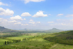 View on Hungarian countryside in summer. Hungary Stock Photography