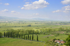 View on Hungarian countryside in summer. Stock Photography