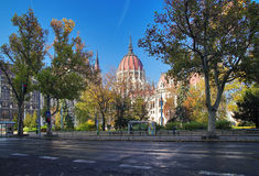 View of the Hungarian Parliament stock images