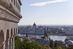 View of the hungarian parliament in budapest Stock Images