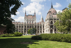 View of the hungarian parliament Royalty Free Stock Photography