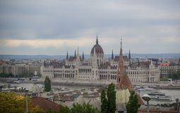 A view on Hungarian parliament in Budapest, Hungary Royalty Free Stock Photo