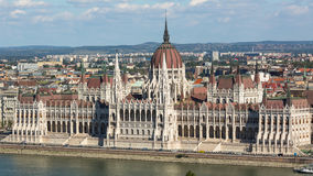 View of Hungarian Parliament Building on the bank of the Danube in Budapest. Stock Photo