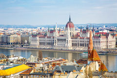 View of Hungarian Parliament building from Buda Royalty Free Stock Photo