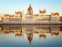 View of hungarian Parliament building, Budapest Royalty Free Stock Photo
