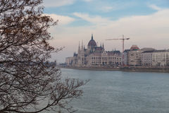 View of the Hungarian Parliament Building, Budapest Stock Photography
