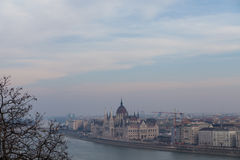 View of the Hungarian Parliament Building, Budapest Royalty Free Stock Photo