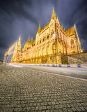 View of hungarian Parliament building, Budapest Royalty Free Stock Image