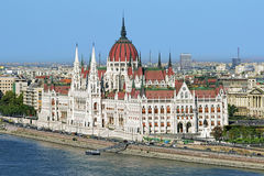 View of Hungarian Parliament Building in Budapest, Hungary Stock Image
