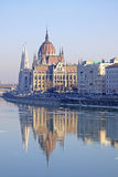 View on the Hungarian Parliament Building, Budapest, Hungary Royalty Free Stock Photos