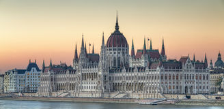 View of hungarian Parliament building, Budapest Royalty Free Stock Photography