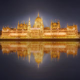 View of hungarian Parliament building, Budapest Stock Photography
