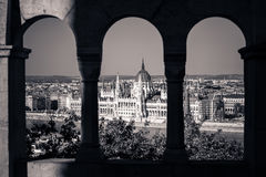 View of Hungarian Parliament Building Stock Photos