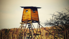 Hunting tower Royalty Free Stock Photo