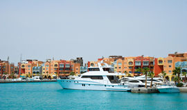 View Hurghada Marina, Egypt. View of the Hurghada Marina in Egypt Stock Image