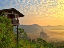View hut with mist Royalty Free Stock Photos