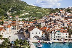 View of the Hvar town, Hvar island, Dalmatia, Croatia royalty free stock photo