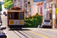 View of Hyde street and San Francisco tram Stock Photography