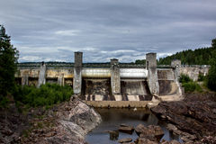 View of a hydroelectric power station dam. In Imatra, Finland royalty free stock photo