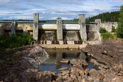 View of a hydroelectric power station. In Imatra, Finland Royalty Free Stock Photo