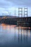 View on hydroelectric station Stock Photography