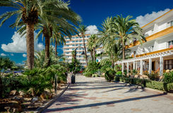 View of Ibiza seafront Royalty Free Stock Photos
