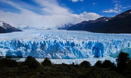 Perito Moreno Glacier view in a sunny day stock images