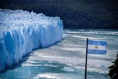 Perito Moreno Glacier view in a sunny day royalty free stock photography