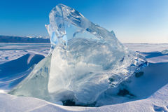 View of Ice floe. On winter Baikal lake Stock Images